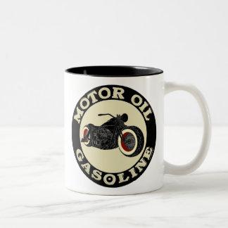 Harley Davidson - Bobber - engine oil - Gasoline Two-Tone Coffee Mug
