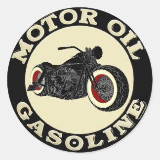 Harley Davidson - Bobber motor Oil - Gasoline Pegatina Redonda