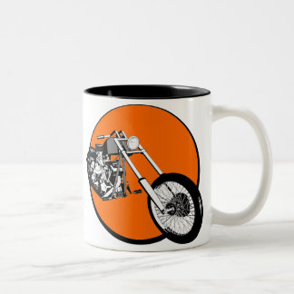 Harley Davidson - Chopper - hardcore Custombike Two-Tone Coffee Mug