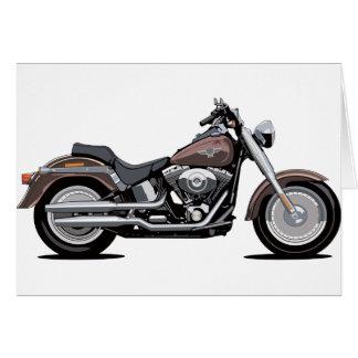 Harley Davidson Fat Boy Greeting Card