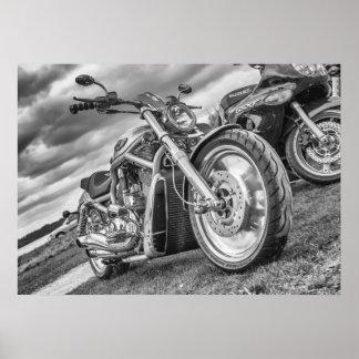 Harley Davidson - la bici de un motorista apropiad Póster