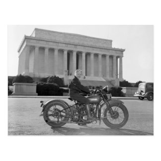 Harley Davidson Motorcycle - First Woman Post Cards