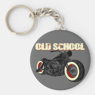 Harley Davidson - Old School Bobber-3 Llavero Redondo Tipo Pin