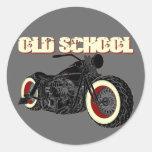 Harley Davidson - Old School Bobber-3 Pegatina Redonda