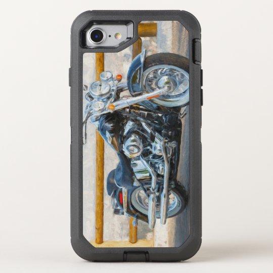 harley-davidson softail otterbox defender iphone 8/7 case | zazzle