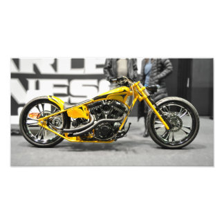 Harley Davidson Yellow Custom Photo Enlargement