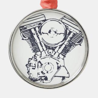 Harley Evolution V-Twin Metal Ornament
