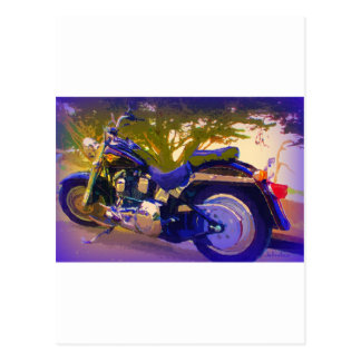 Harley-FatBoy-1998 Motorcycle Postcard