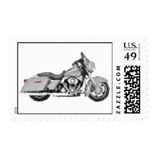 Harley FLHX Street Glide Hand Painted Art Brush Postage