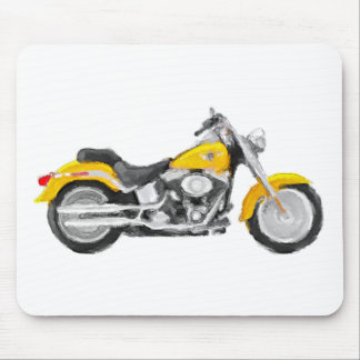 Harley FLSTC Fat Boy Hand Painted Art Brush Mouse Mouse Pad