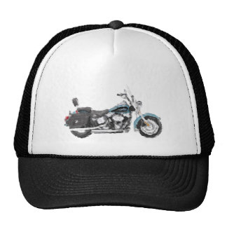 Harley FLSTC Heritage Softail Hand Painted Art Hat