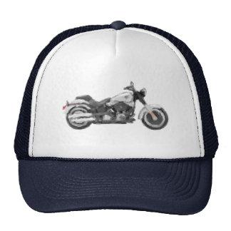 Harley FLSTFB Fat Boy Hand Painted Art Brush Trucker Hats