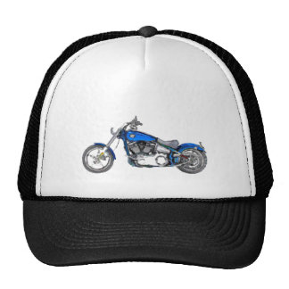 Harley FXCW Softail Hand Painted Art Brush Hat