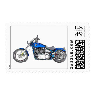 Harley FXCW Softail Hand Painted Art Brush Stamp