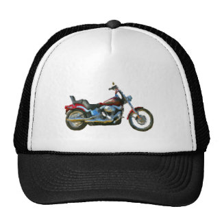 Harley FXSTC Soft Tail Hand Painted Art Brush Hat