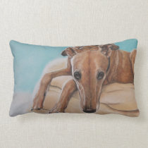 Harley Greyhound Dog Art Pillow