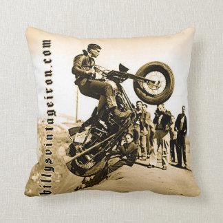 Harley Hill Climb Throw Pillow
