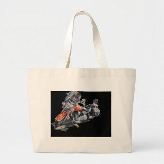 Harley mine large tote bag