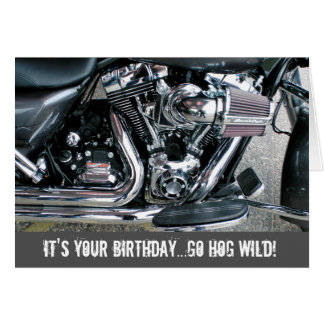 Harley motorcycle birthday card