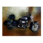 Harley Motorcycle Postcard