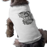 Harley Panhead Engine Drawing Dog Tee