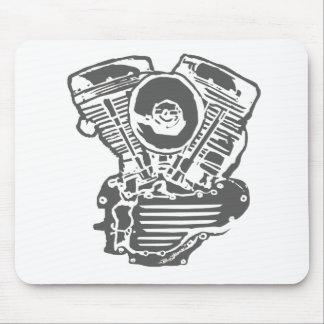 Harley Panhead Engine Drawing Mouse Pad