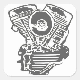 Harley Panhead Engine Drawing Sticker