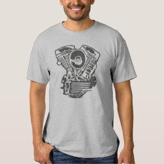 Harley Panhead Engine Drawing T Shirt