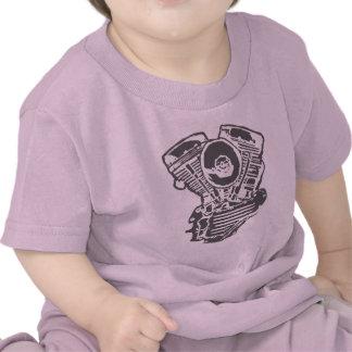 Harley Panhead Engine Drawing Tee Shirts