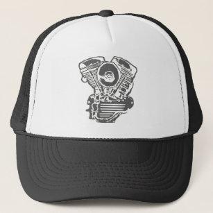 panhead gifts on zazzle S&S Shovelhead harley panhead engine drawing trucker hat