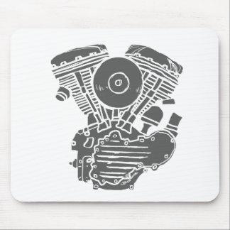 Harley Panhead Motor Drawing Mouse Pad