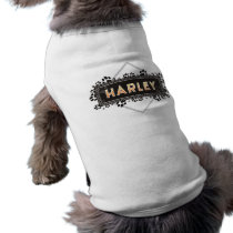 Harley - Pet Dog T-Shirt - Black Paw Prints Design