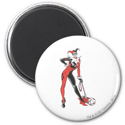 Harley Quinn 2 Imán Redondo 5 Cm