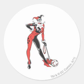 Harley Quinn 2 Pegatina Redonda