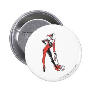 Harley Quinn 2 Pin Redondo De 2 Pulgadas