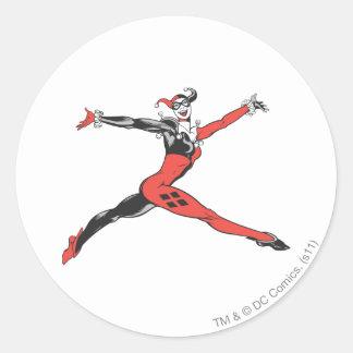 Harley Quinn 3 Pegatina Redonda