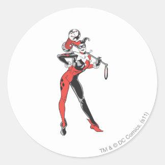 Harley Quinn 4 Pegatinas Redondas