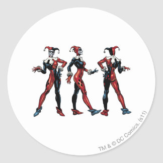 Harley Quinn - All Sides Classic Round Sticker