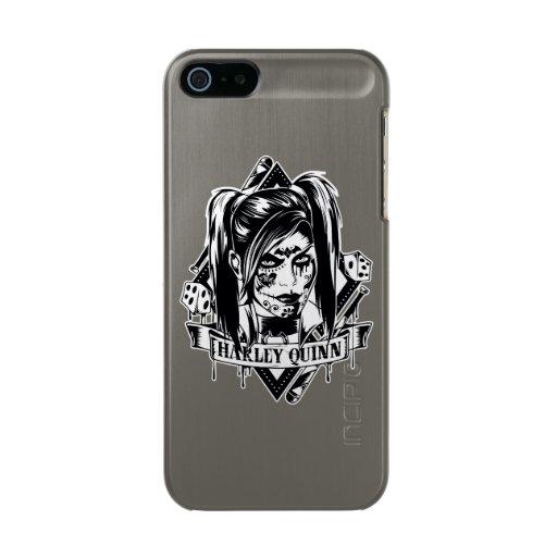 Harley Quinn Badge Metallic Phone Case For iPhone SE/5/5s
