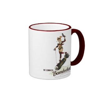 Harley Quinn Bombshell Ringer Coffee Mug