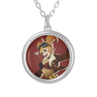 Harley Quinn Bombshell Round Pendant Necklace