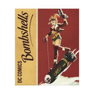 Harley Quinn Bombshells Pinup Canvas Print