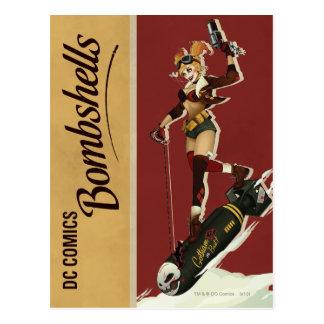 Harley Quinn Bombshells Pinup Postcard
