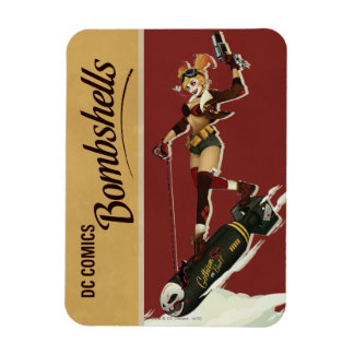 Harley Quinn Bombshells Pinup Rectangular Photo Magnet