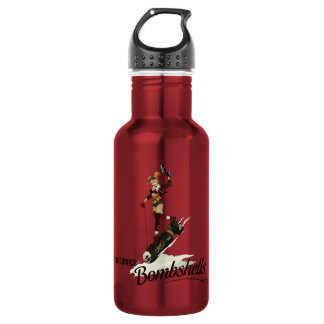 Harley Quinn Bombshells Pinup Stainless Steel Water Bottle