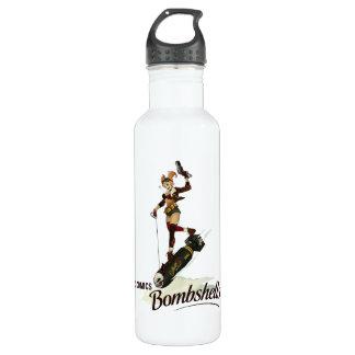 Harley Quinn Bombshells Pinup Stainless Steel Water Bottle
