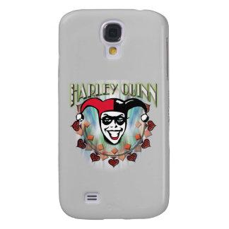Harley Quinn - cara y logotipo Carcasa Para Galaxy S4