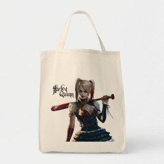 Harley Quinn con el palo Bolsa Tela Para La Compra