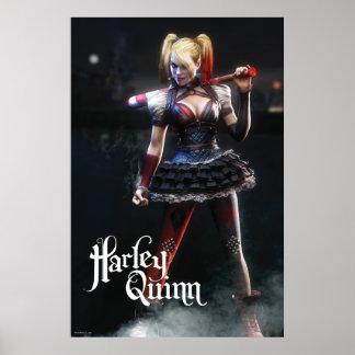 Harley Quinn con el palo Póster