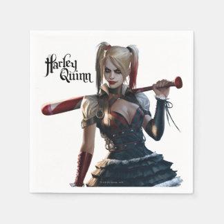 Harley Quinn con el palo Servilletas Desechables